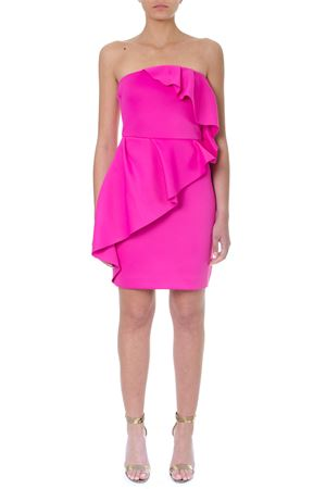 FUCHSIA BUSTIER DRESS WITH ROUCHES SS 2019 LANVIN | 32 | RW-DR280J-TJ041551