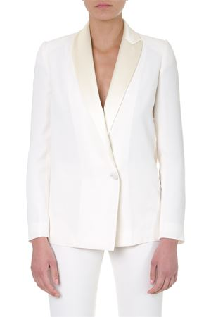 WHITE SINGLE BREASTED BLAZER SS 2019