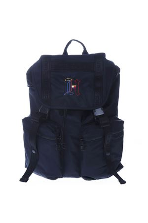 5a129ab8 BLUE NYLON BACKPACK WITH LEWIS HAMILTON MONOGRAM SS19 - TOMMY ...