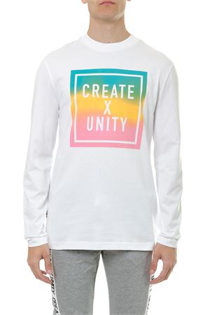 WHITE CREATE & UNITY COTTON T-SHIRT WITH MULTICOLOR PATCH SS19 TOMMY HILFIGER | 16 | MW0MW101891100