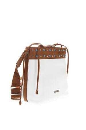 WHITE TIBERINA FAUX LEATHER STONES BUCKET BAG SS19 LIU JO | 2 | N19128E0005UNI01065