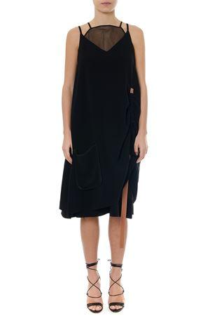 BLACK ACETATE SLEEVELESS DRESS SS19 LOEWE | 21 | S2196240P0TRAPEZE1100