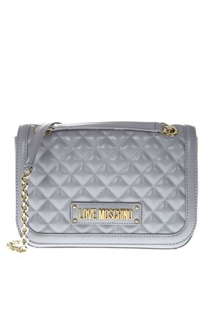 GRAY QUILTED SHOULDER BAG SS 2019 LOVE MOSCHINO | 2 | JC4003PP17LA10001