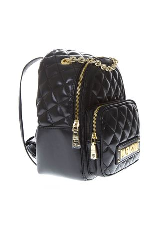 BLACK FAUX LEATHER QUILTED BACKPACK SS19 LOVE MOSCHINO | 2 | JC4006PP17LAUNI0000