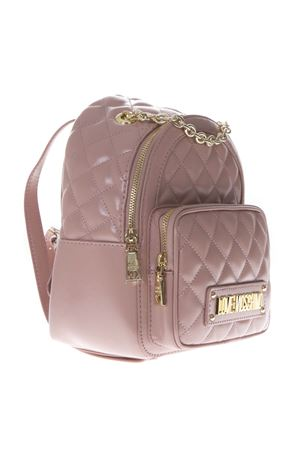 PINK FAUX LEATHER QUILTED BACKPACK SS19 LOVE MOSCHINO | 2 | JC4006PP17LAUNI0600