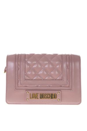 PINK FAUX LEATHER BAG WITH QUILTED DETAIL SS19 LOVE MOSCHINO | 2 | JC4015PP17LAUNI0600