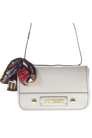 IVORY SHOULDER BAG IN FAUX LEATHER WITH MULTICOLOR FOULARD SS 2019 LOVE MOSCHINO | 2 | JC4035PP17LD10110
