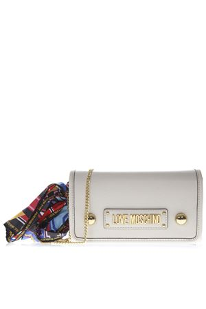 IVORY SHOULDER BAG IN FAUX LEATHER WITH FOULARD DETAIL SS 2019 LOVE MOSCHINO | 2 | JC4045PP17LD10110