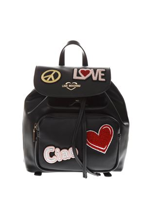 BLACK FAUX LEATHER BACKPACK SS 2019 LOVE MOSCHINO | 183 | JC4082PP17LJUNI0000