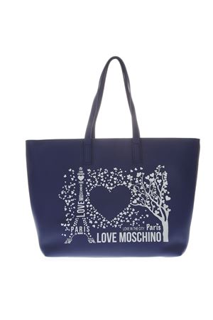 BLUE PARIS LOVE MOSCHINO TOTE BAG IN FAUX LEATHER SS 2019 LOVE MOSCHINO | 2 | JC4087PP17LK10750