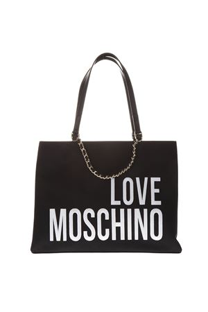 BLACK FAUX LEATHER TOTE BAG WITH LOGO SS 2019 LOVE MOSCHINO | 2 | JC4112PP17LO10000