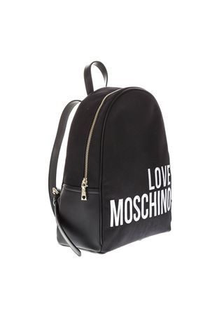 BLACK FAUX LEATHER BACKPACK SS19 LOVE MOSCHINO | 183 | JC4114PP17LOUNI0000