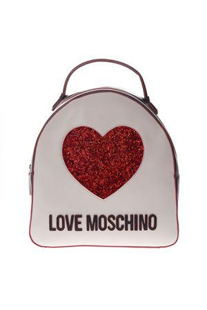 ZAINO LOGATO BIANCO E NERO IN ECOPELLE PE19 LOVE MOSCHINO | 2 | JC4116PP17L3UNI100A