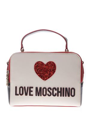 TWO COLOR FAUX LEATHER LOGO BAG SS19 LOVE MOSCHINO | 2 | JC4117PP17L3UNI100A