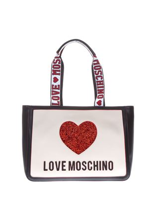 MULTICOLOR FAUX LEATHER SHOPPING BAG SS19 LOVE MOSCHINO | 2 | JC4154PP17L3UNI100A