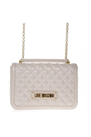 ab43642074 QUILTED IVORY FAUX LEATHER SHOULDER BAG SS 2019 LOVE MOSCHINO   2    JC4200PP07KAUNI0110 ...