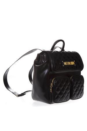 3e2cb6ba74 ... JC4207PP07KAUNI0000 QUILTED BLACK FAUX LEATHER BACKPACK SS 2019 LOVE  MOSCHINO   2   JC4207PP07KAUNI0000