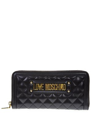 BLACK FAUX LEATHER WALLET SS19 LOVE MOSCHINO | 34 | JC5612PP17LAUNI0000