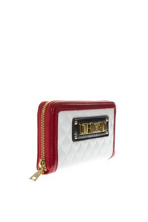 WHITE FAUX LEATHER WALLET SS19 LOVE MOSCHINO | 34 | JC5615PP17LBUNI110A