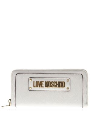 IVORY WALLET IN ECO LEATHER WITH LOGO SS 2019 LOVE MOSCHINO | 34 | JC5621PP17LD10110