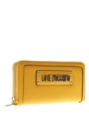 YELLOW WALLET IN ECO LEATHER WITH LOGO SS 2019 LOVE MOSCHINO | 34 | JC5621PP17LD10400