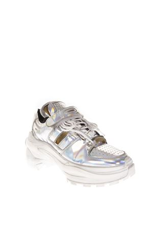 MIRROR EFFECT SILVER LEATHER SNEAKERS FW 2018 MAISON MARGIELA | 55 | S39WS0037P2132H5807