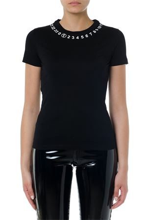 T-SHIRT NERA ICONICA IN COTONE PE19 MAISON MARGIELA | 15 | S51GC0434S22816900