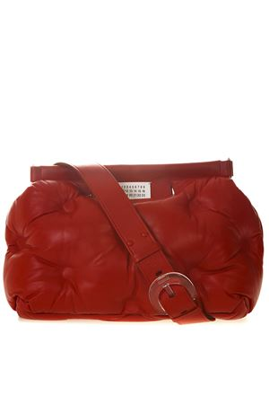 MEDIUM GLAM SLAM RED QUILTED LEATHER BAG