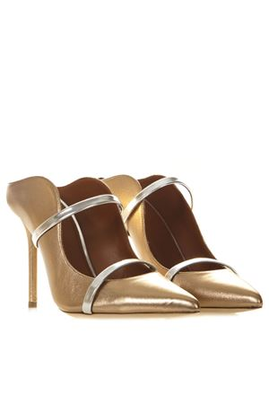 MAUREEN BRONZE LAMNINATED LEATHER PUMPS SS19 MALONE SOULIERS | 68 | MAUREEN10032GOLD/SILVER