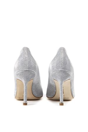 30dbcce71a255 SILVER HANGISI GLITTER TEXTILE PUMPS SS19 - MANOLO BLAHNIK ...