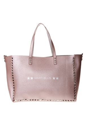 ded2b02cb857 PEARLY PINK LEATHER TOTE WITH STUDS SS 2019 MARC ELLIS