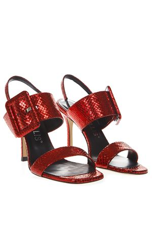 RED SANDALS IN SNAKE EFFECT LEATHER SS 2019 MARC ELLIS | 48 | SG6068SNAKEROSSO