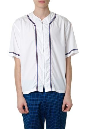 ZIPPED WHITE COTTON TOP WITH CONTRASTING DETAILS SS 2019 MARNI | 8 | CUM0045X0S4930500W01