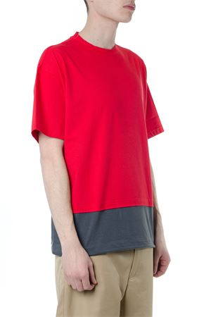 RED & GREY LAYERED COTTON T-SHIRT SS19 MARNI | 15 | HUM0034QSS22763Y4186