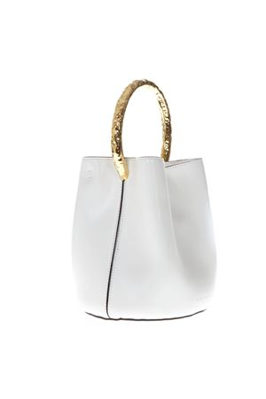 WHITE PANNIER LEATHER BUCKET BAG SS19 MARNI | 2 | SCMPU09T18P192300W01