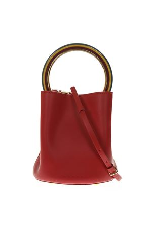 PANNIER RED LEATHER HANDBAG SS19 MARNI | 2 | SCMPU09T20LV58900R69