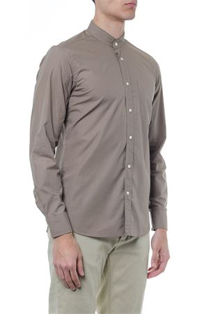 MUD COLORED COTTON SHIRT SS 2019 MAURO GRIFONI | 9 | GE1200134170