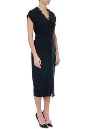 BLACK CADY ROUCHES DRESS MEDIUM DRESS SS19 MAX MARA | 21 | NADIR394003
