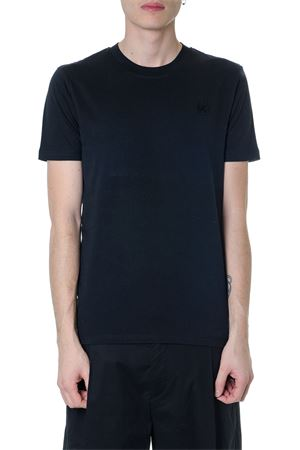 BLACK COTTON T-SHIRT WITH EMBOIDERED SWALLOW SS 2019 McQ ALEXANDER MCQUEEN   15   277605RMT741000