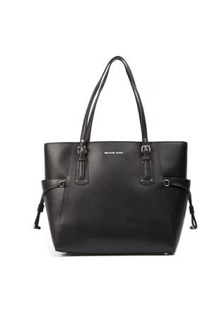 618ad12109ce13 VOYAGER TOTE BAG IN BLACK LEATHER SS 2019 MICHAEL MICHAEL KORS | 2 |  30F8SV6T4LUNI001 ...