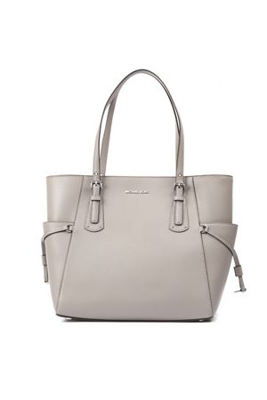 VOYAGER TOTE BAG IN GREY LEATHER SS 2019 MICHAEL MICHAEL KORS | 2 | 30F8SV6T4LUNI081