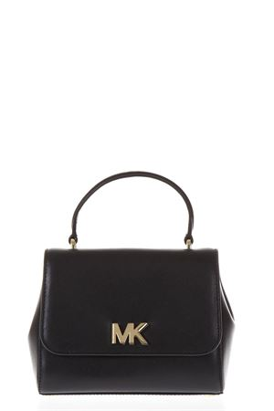 BLACK LEATHER HANDBAG WITH MK METAL LOGO SS 2019 MICHAEL MICHAEL KORS | 2 | 30S8GOXS1LUNI001
