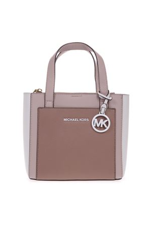 COLOR BLOCK HAMMERED LEATHER BAG WITH LOGO PENDANT DETAIL SS19 MICHAEL MICHAEL KORS | 2 | 30S9LGXM1TUNI211