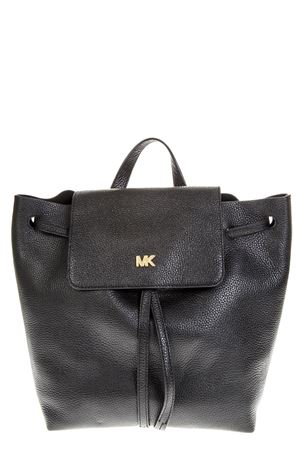 BLACK LEATHER BACKPACK WITH METAL LOGO SS 2019 MICHAEL MICHAEL KORS | 2 | 30T8TX5B2LUNI001