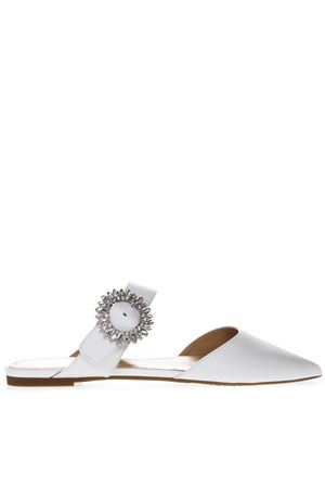 EMBELLISHED WHITE LEATHER MULES SS 2019 MICHAEL MICHAEL KORS | 110000060 | 40S9VOFP1LUNI085