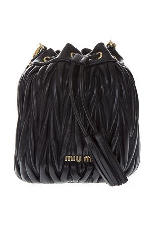 BLACK MATELASSÈ LEATHER BUCKETT BAG SS 2019 MIU MIU | 2 | 5BE014N88F0002