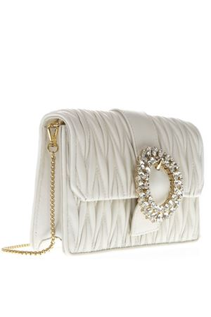 WHITE LEATHER QUILTED BAG SS19 MIU MIU | 2 | 5BH095N88F0009