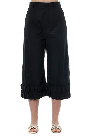 BLACK WIDE COTTON PANTS WITH RUFFLES SS19 MONCLER GENIUS | 8 | 1600300V00151999