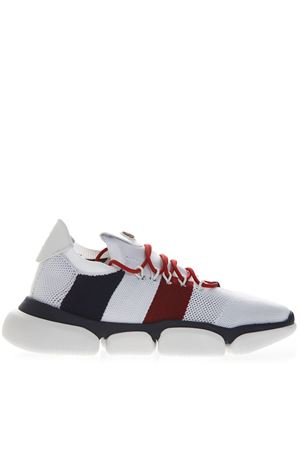 RED BLUE AND WHITE SNEAKERS IN MESH AND TECHNICAL FABRIC SS 2019 MONCLER | 55 | 103620001A6HTHEB BUBBLE002