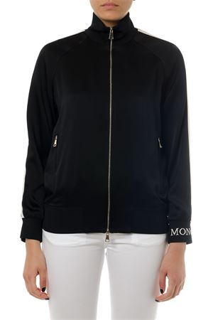 BLACK ZIPPED TECHNICAL FABRIC SWEATSHIRT SS 2019 MONCLER | 19 | 5760300C00061999